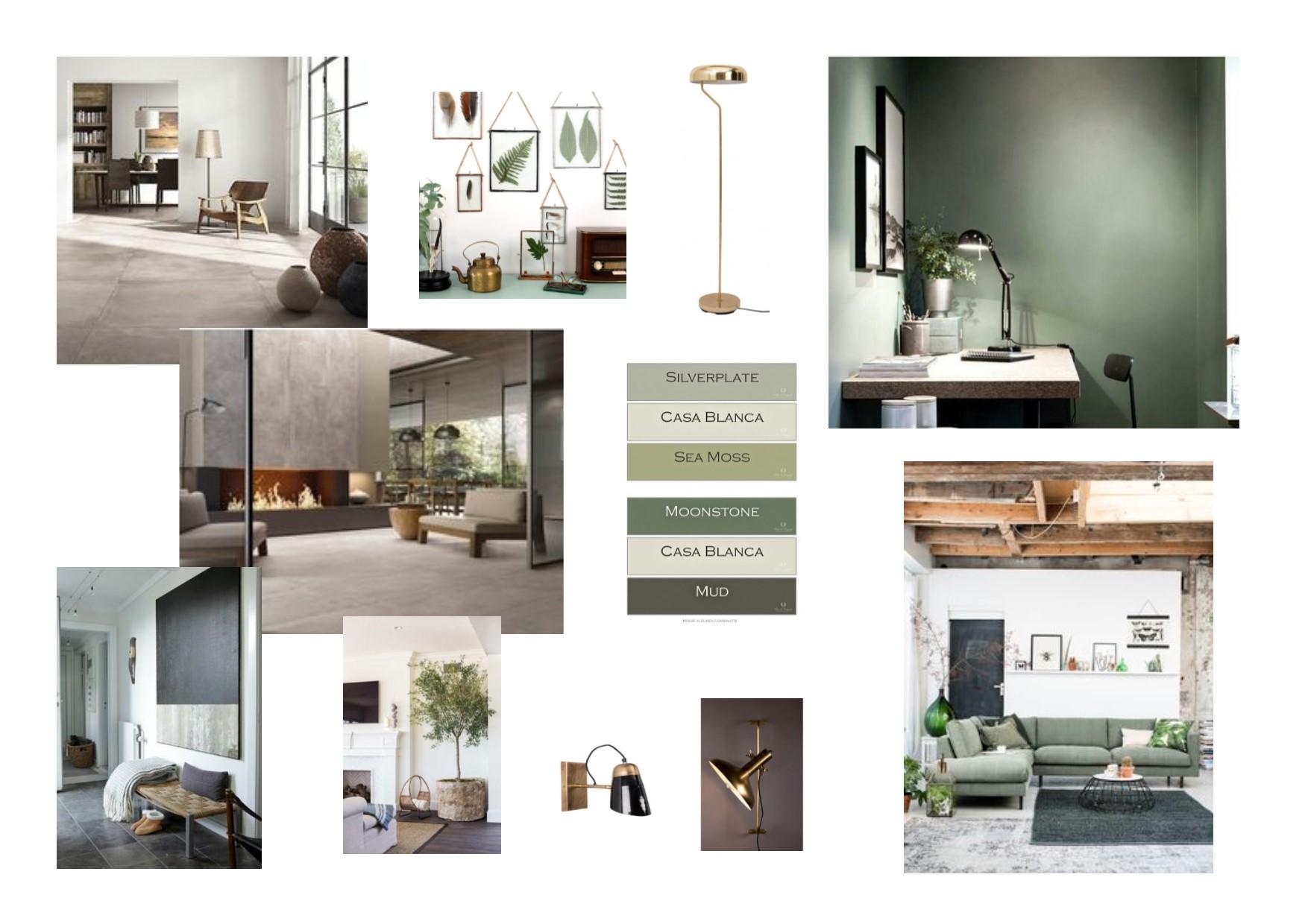 H&M Grijs,Groen, goud