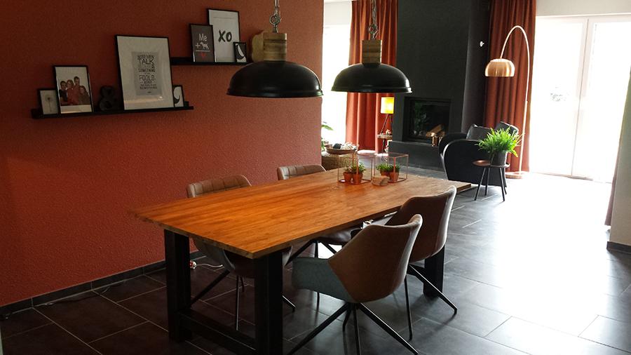 Interieuradvies woonkamer keuken hal sandra 39 s for Eethoek modern