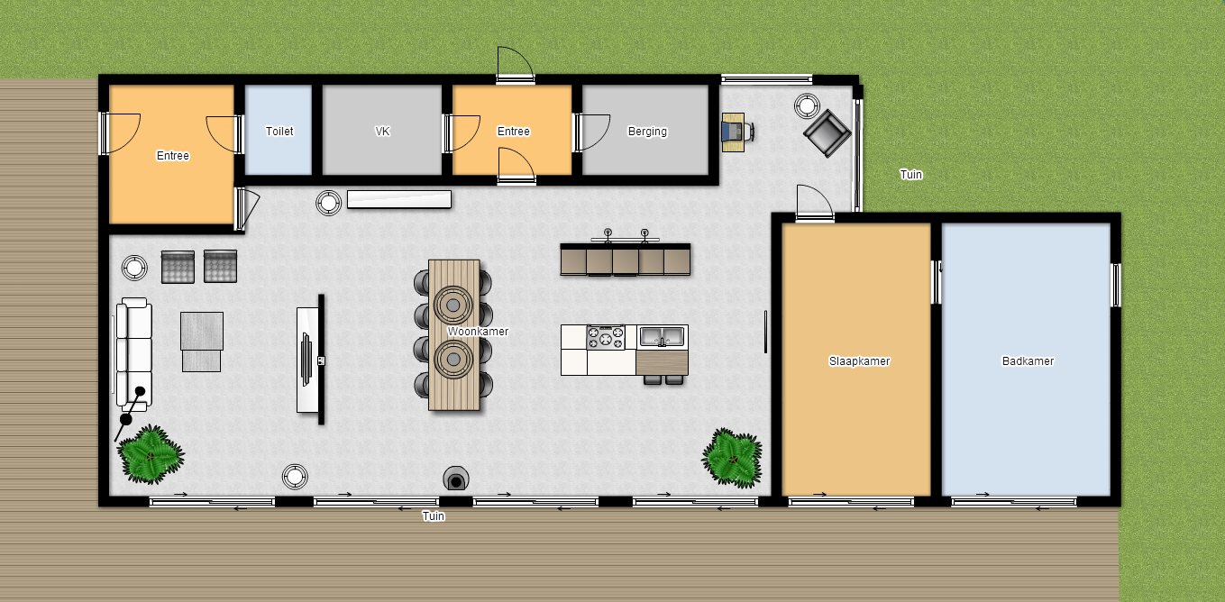 Kleuradvies plattegrond en 3d ontwerp sandra 39 s interieurstyling - Ontwerp huis kantoor ...