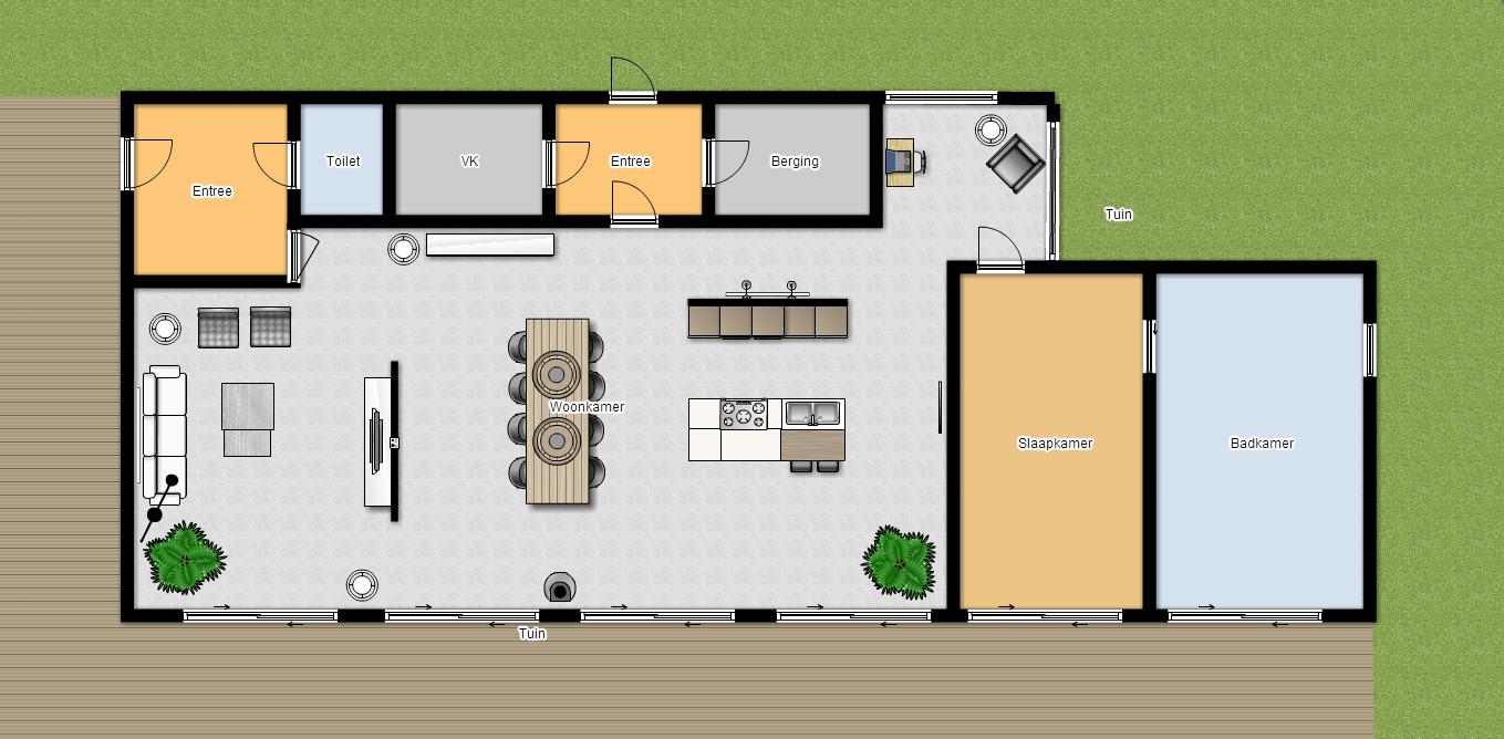 Kleuradvies plattegrond en 3d ontwerp sandra 39 s for Ontwerp plattegrond