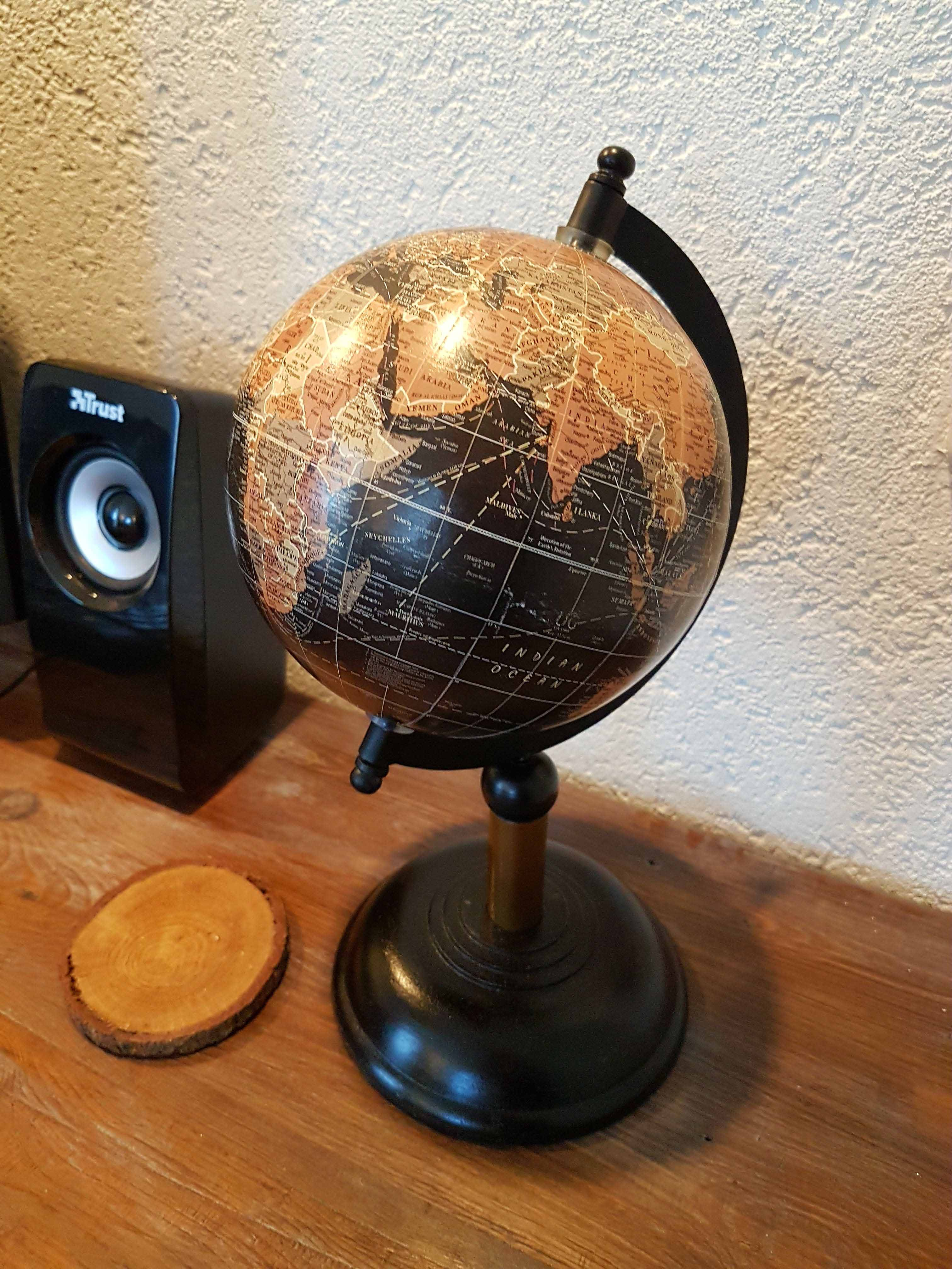 wereldbol als decoratie