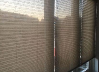 Transparante plisse