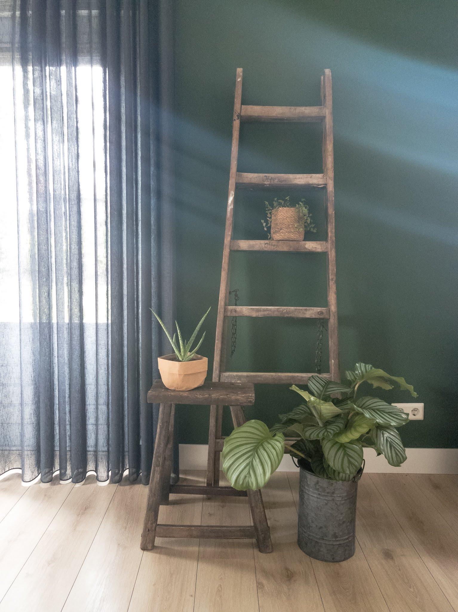 Portfolio interieur foto's woonkamer eethoek groen cognac stoer (3)