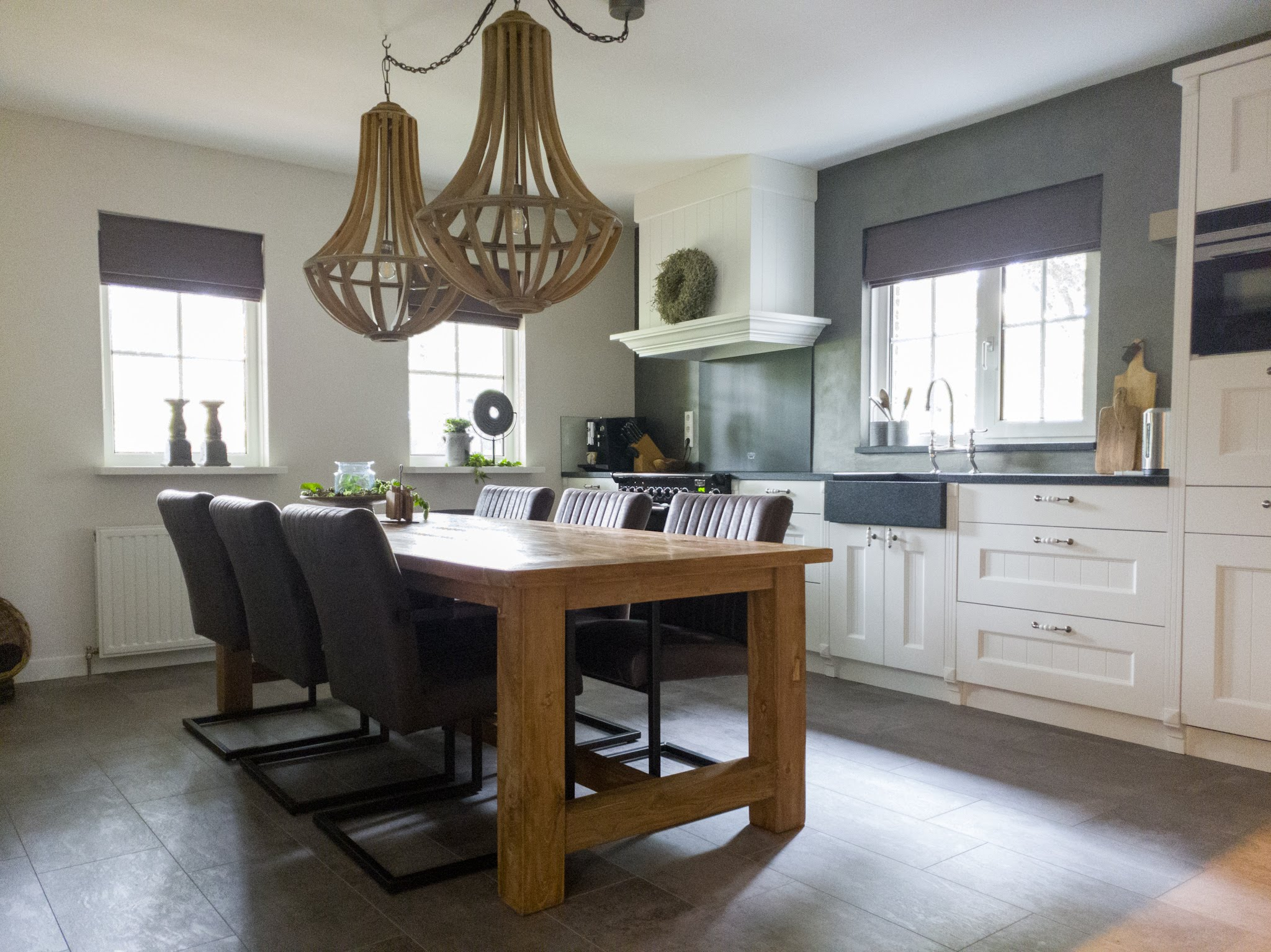 Landelijke herinrichting woonkamer keuken sandra's interieurstyling (12)