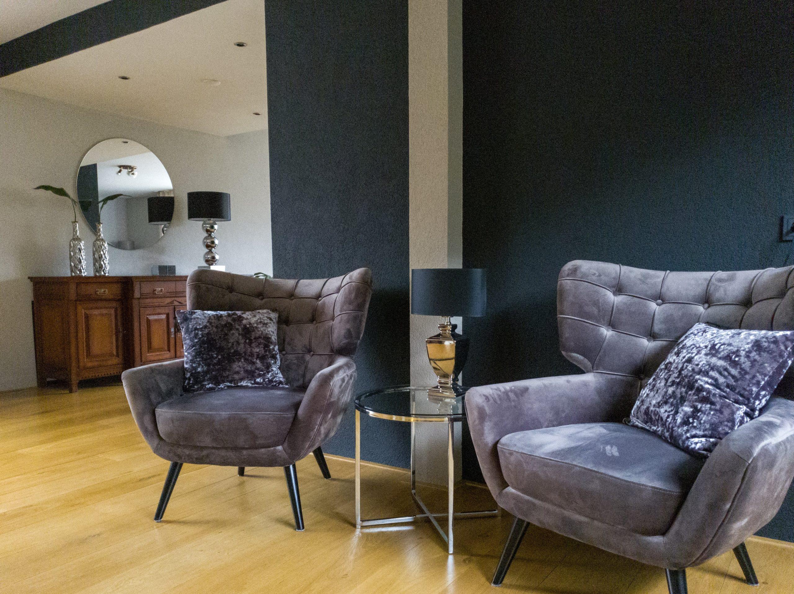 Luxe velvet taupe stoelen