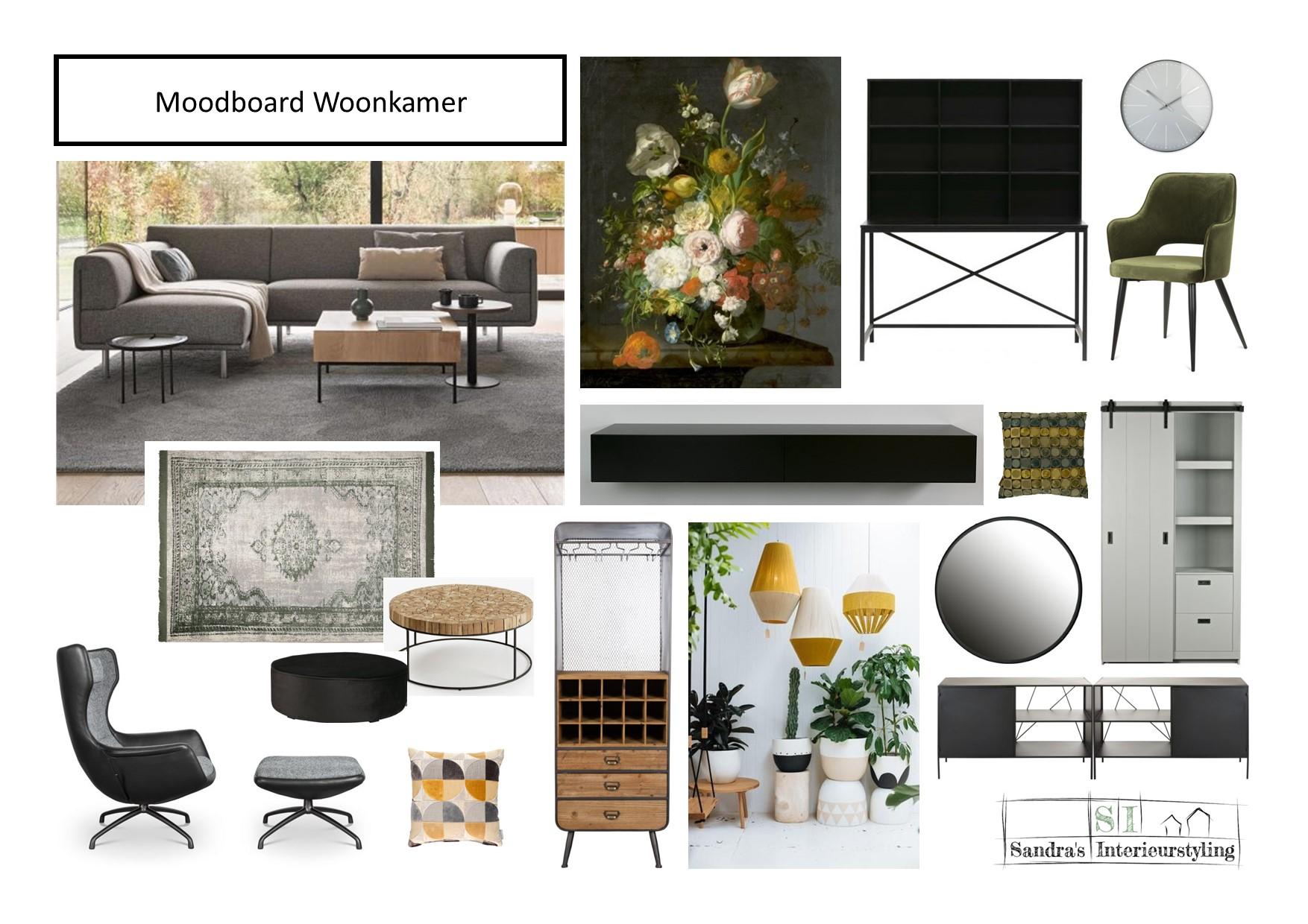 Moodboard woonkamer